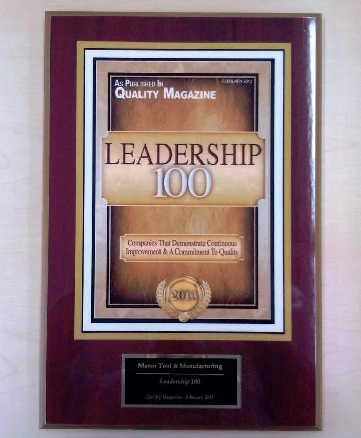 Quality Leadership 100 Award