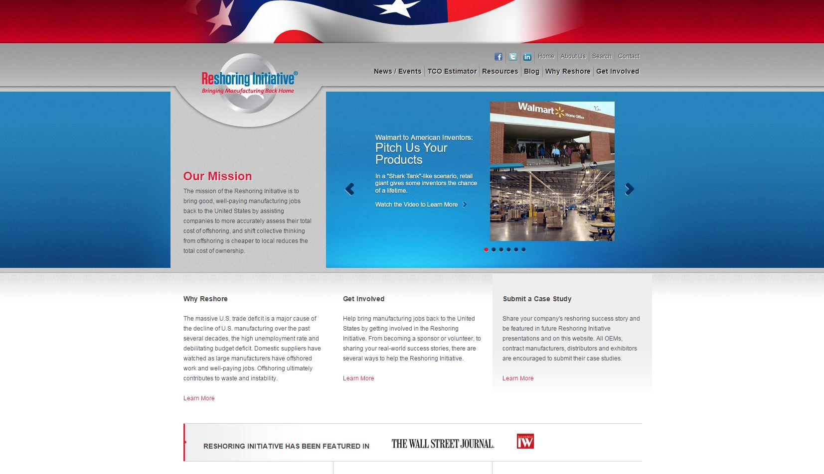 reshoring initiative website