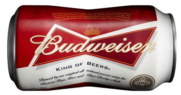 Budweiser Bowtie Can